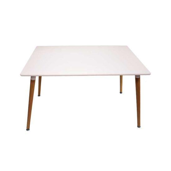 میز پایه چوبی مستطیلی ماهور