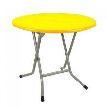 میز گرد پایه فلزی تاشو کد 722 ناصر پلاستیک