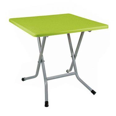 میز مربع پایه فلزی تاشو