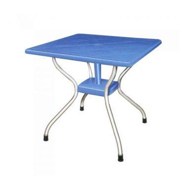 میز مربع پایه فلزی