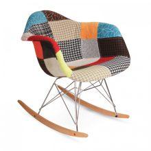 صندلی راک چهل تیکه مدل 7051A پایه چوبی نگین
