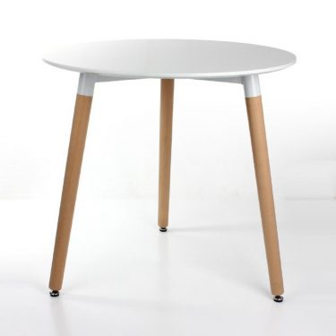 میز پایه چوبی گرد