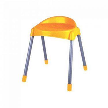 چهارپایه پشتی دار پایه فلزی متوسط