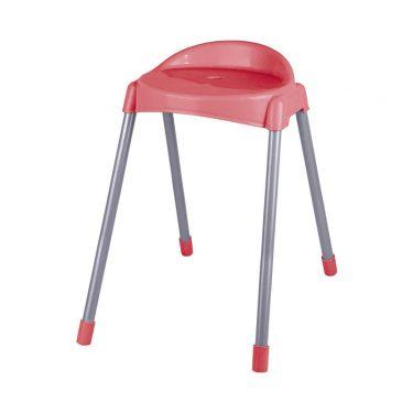 چهارپایه پشتی دار پایه فلزی بلند