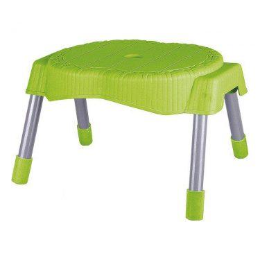 چهارپایه حصیر بافت پایه فلزی کوتاه