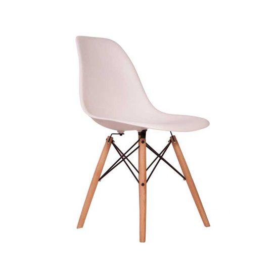 صندلی رستورانی چهارپایه ایفلی چوبی مدل داووس