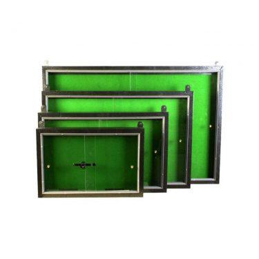 تابلو اعلانات کشویی با شیشه و قفل