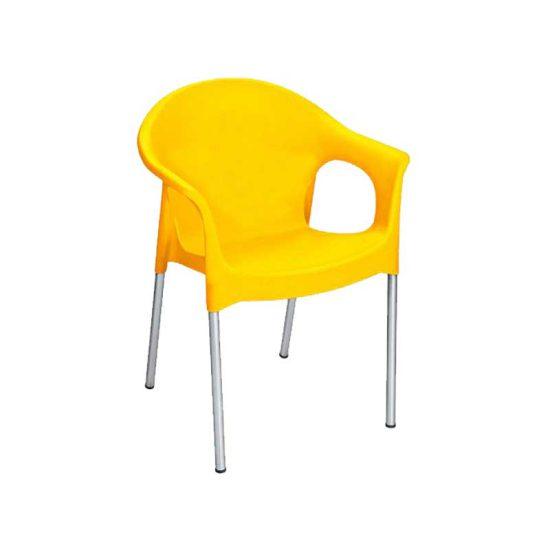 صندلی پایه فلزی دسته دار
