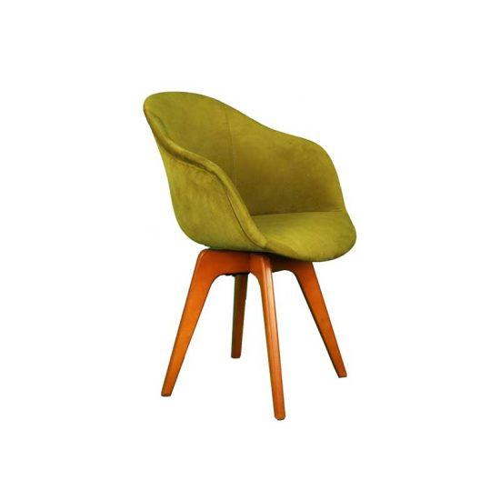 صندلی پایه چوبی مدل کامفورت