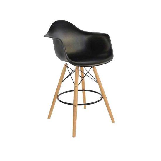 صندلی اپن پایه ایفلی چوبی بلند ایزی