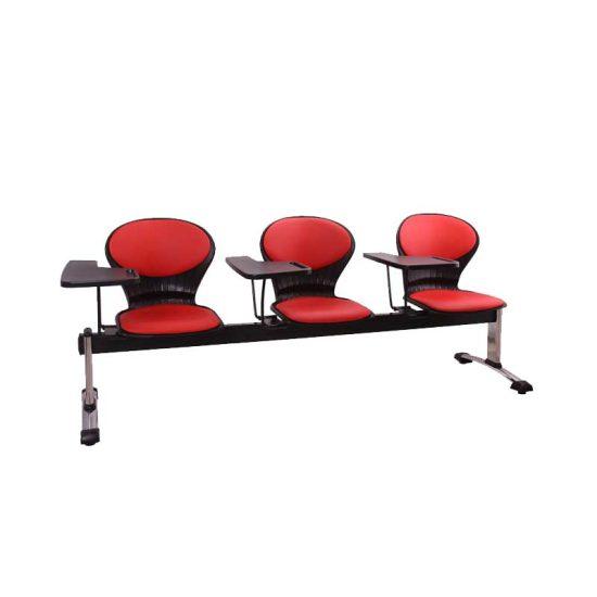 صندلی انتظار سه نفره دسته دار مدل صدفی