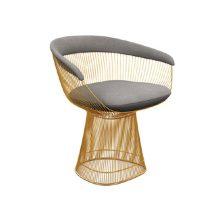 صندلی رستورانی پوشش طلایی مدل رایکا استیل هامون