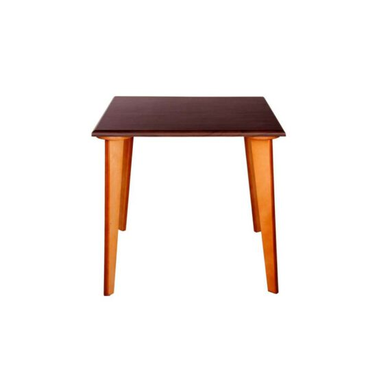 میز چهار نفره چهارگوش پایه چوبی کامفورتی تک استیل هامون