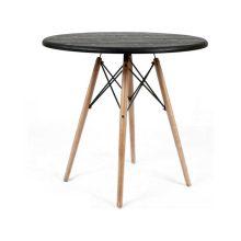 میز چهار نفره گرد با پایه چوبی ایفلی استیل هامون