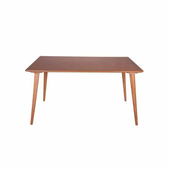 میز شش نفره روکش PVC استیل هامون
