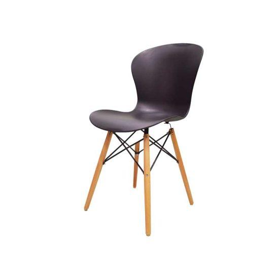 صندلی رستورانی پایه چوبی ایفلی بدون تشک ماهور